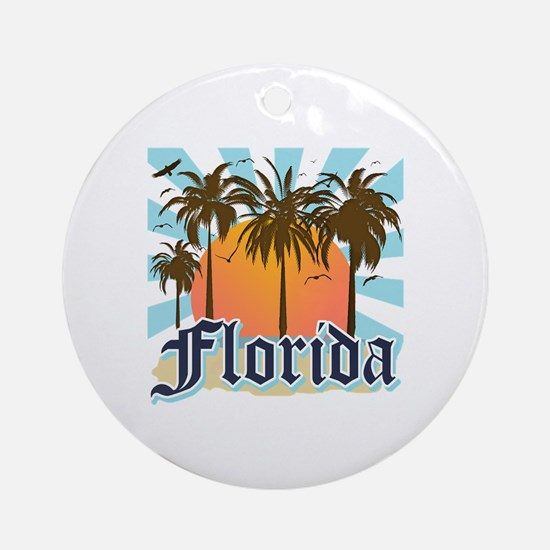 Florida The Sunshine State Round Ornament