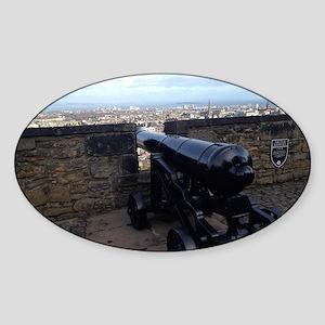 Edinburgh Castle (Scotland) Sticker (Oval)