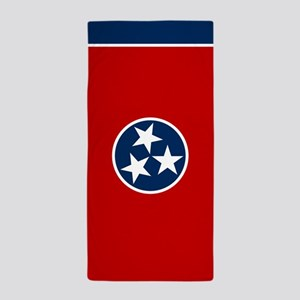 Tennessee State Flag Beach Towel