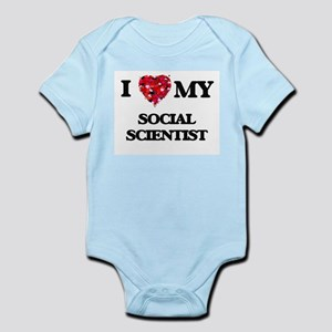 I love my Social Scientist hearts design Body Suit