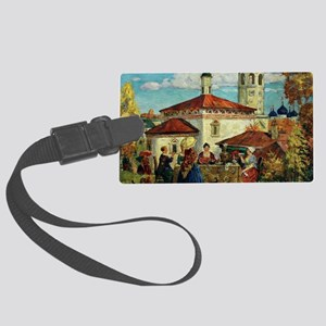 Kustodiev, In Old Suzdal Large Luggage Tag