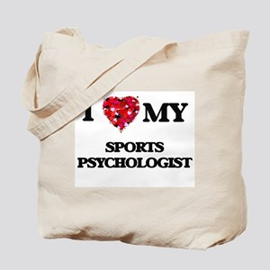 I love my Sports Psychologist hearts desi Tote Bag