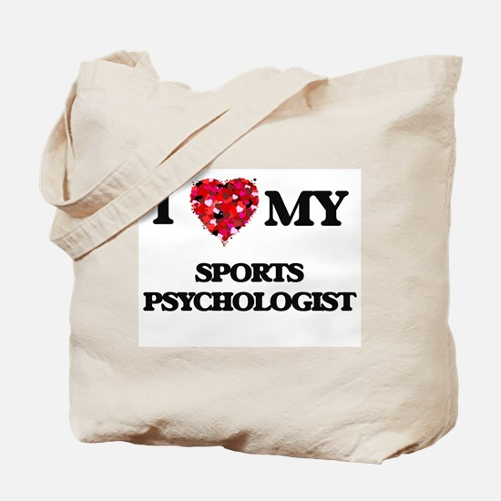 I love my Sports Psychologist hearts desi Tote Bag