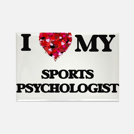 I love my Sports Psychologist hearts desig Magnets