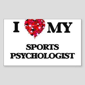 I love my Sports Psychologist hearts desig Sticker