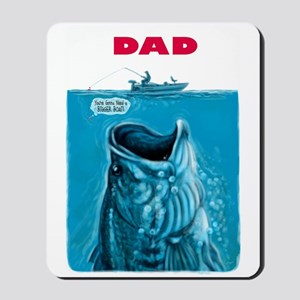 Dad Needs Bigger Bass Boat Mousepad