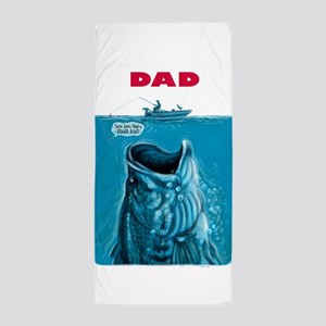 Dad Needs Bigger Bass Boat Beach Towel