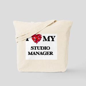 I love my Studio Manager hearts design Tote Bag