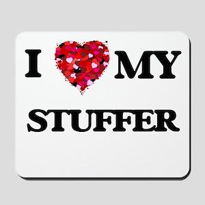 I love my Stuffer hearts design Mousepad