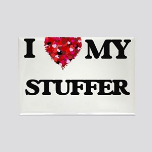 I love my Stuffer hearts design Magnets