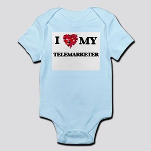 I love my Telemarketer hearts design Body Suit