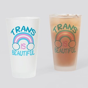 Pretty Trans Drinking Glass