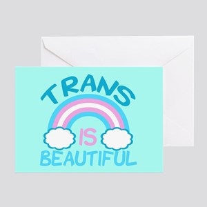 Pretty Trans Greeting Card