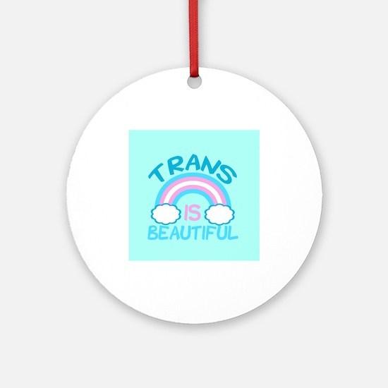 Pretty Trans Ornament (Round)