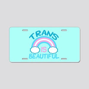 Pretty Trans Aluminum License Plate