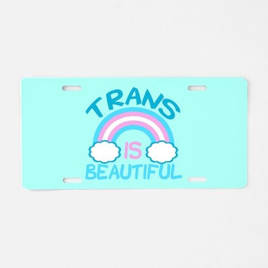 Pretty Trans Aluminum License Plate