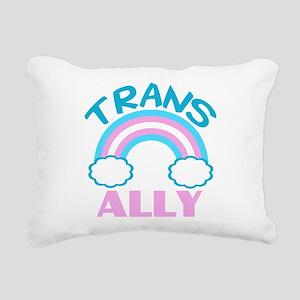 Transgender Ally Rectangular Canvas Pillow