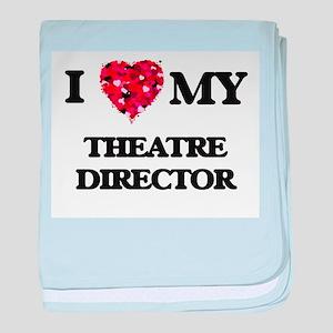I love my Theatre Director hearts des baby blanket