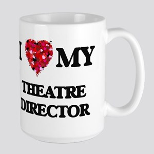 I love my Theatre Director hearts design Mugs