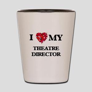 I love my Theatre Director hearts desig Shot Glass