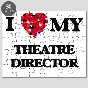 I love my Theatre Director hearts design Puzzle