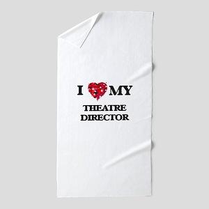 I love my Theatre Director hearts desi Beach Towel