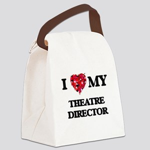 I love my Theatre Director hearts Canvas Lunch Bag