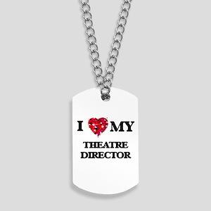 I love my Theatre Director hearts design Dog Tags