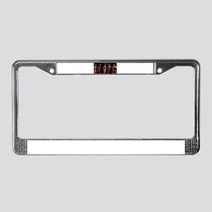 Business People Background License Plate Frame