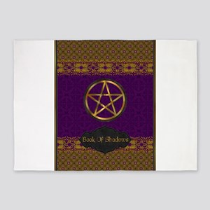 Book of shadows 5'x7'Area Rug