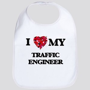 I love my Traffic Engineer hearts design Bib