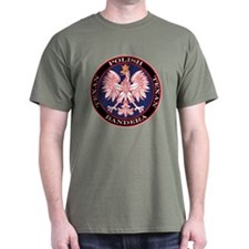 Bandera Round Polish Texan Dark T-Shirt