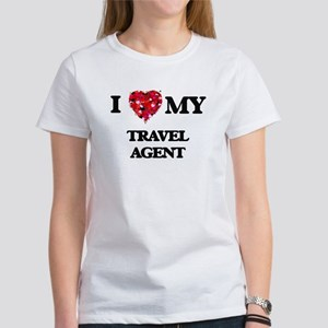 I love my Travel Agent hearts design T-Shirt