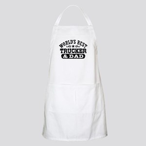 World's Best Trucker and Dad Apron