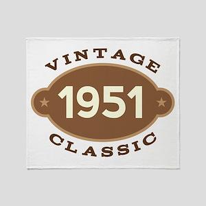 1951 Birth Year Birthday Throw Blanket