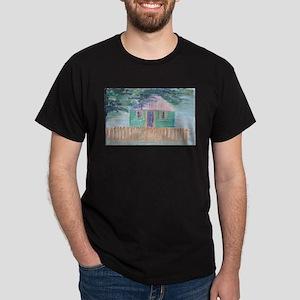 Green Tropical Home Dark T-Shirt