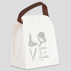 love and hair Canvas Lunch Bag