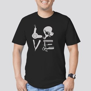 love and hair Men's Fitted T-Shirt (dark)