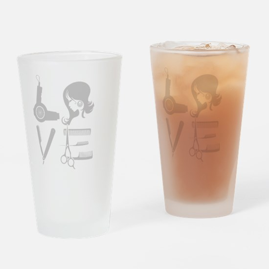 love and hair Drinking Glass
