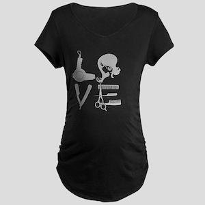 love and hair Maternity Dark T-Shirt