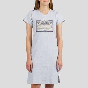 Chrysler stock certificate Women's Nightshirt