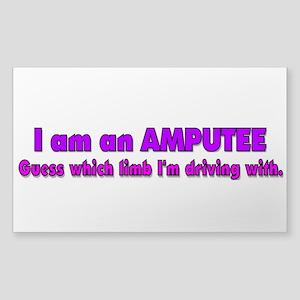 Amputee Humor Sticker