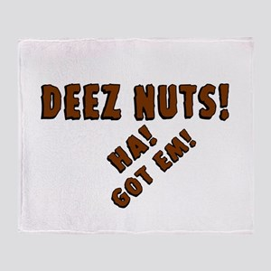 Deez Nuts! Throw Blanket