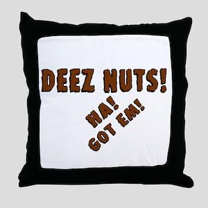 Deez Nuts! Throw Pillow
