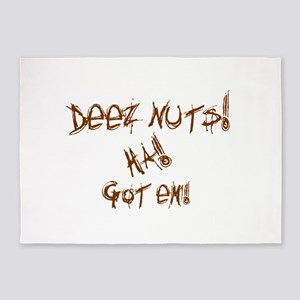 Deez Nuts!!! 5'x7'Area Rug