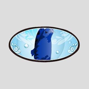 Cute walrus with decorative splash elements Patch