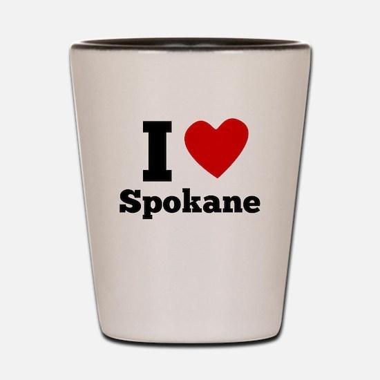 I Heart Spokane Shot Glass