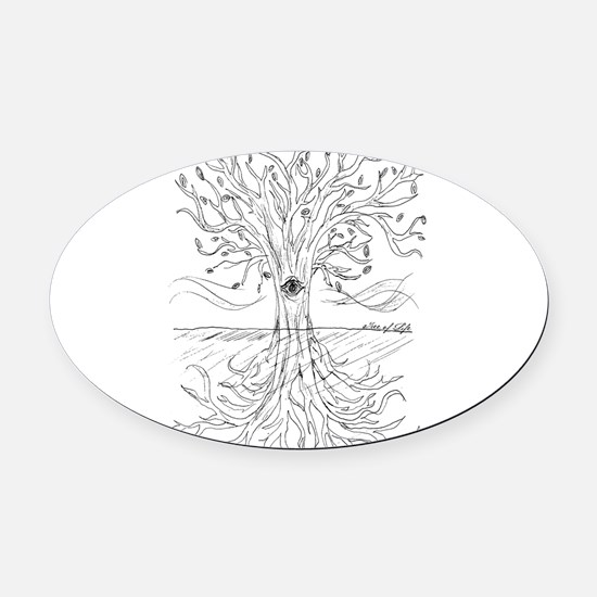 Tree of Life Oval Car Magnet