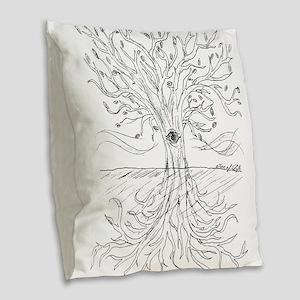 Tree of Life Burlap Throw Pillow