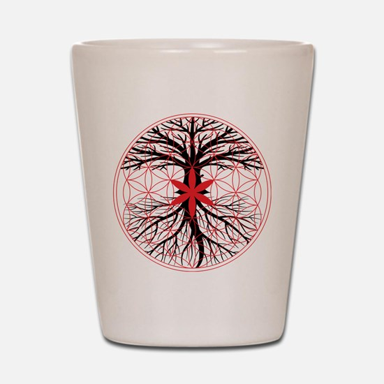 Tree of Life / Flower of Life Shot Glass